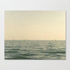 Fleet Nautical Sailboat Canvas Print