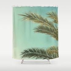Autumn Palms II Shower Curtain
