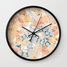 Coral Spring Garden Wall Clock