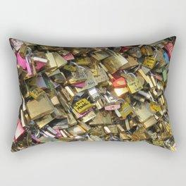 Love Padlocks Rectangular Pillow