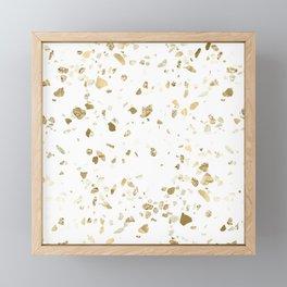 Metallic Gold Terrazzo Sparkle Framed Mini Art Print