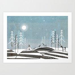 Sami Night Art Print