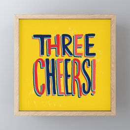 Three Cheers Framed Mini Art Print