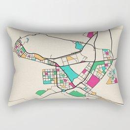 Colorful City Maps: Abu Dhabi, United Arab Emirates Rectangular Pillow