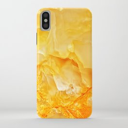 Yellow onyx marble iPhone Case