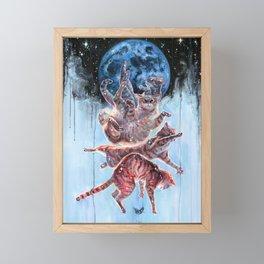 Felinoid Fall Framed Mini Art Print