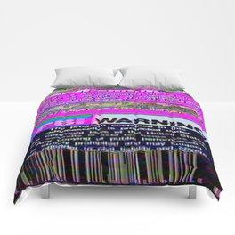 FBI Warning Distorted Comforters