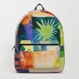August Macke - Garden On Lake Thun - Digital Remastered Edition Backpack