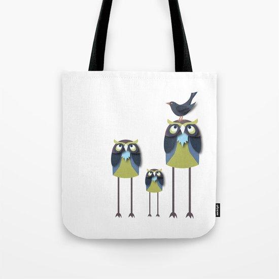 Long-Legged Owls Tote Bag