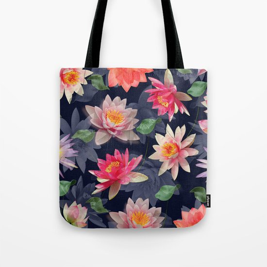 Lotus Flower Pattern #2 Tote Bag