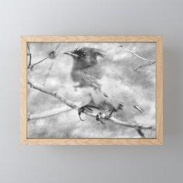 Knowing It Has Wings bw Framed Mini Art Print