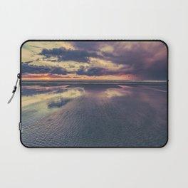 Stormy Beach Sunset Laptop Sleeve