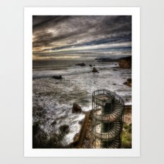 Evening At The Tower Art Print