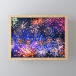 Celebration Fireworks Framed Mini Art Print
