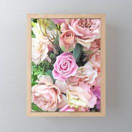 Pink Roses Framed Mini Art Print