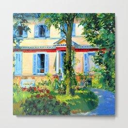 Edouard Manet House in Rueil Metal Print