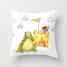 Baby castle Throw Pillow