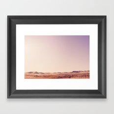 Desert Sand Dune Landscape Framed Art Print