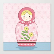 Matryoshka Doll (pink) Canvas Print