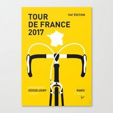 MY TOUR DE FRANCE MINIMAL POSTER 2017 Canvas Print
