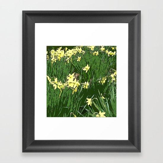 Daffodil Field Framed Art Print