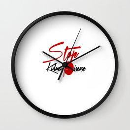 Stop Kidney Disease Wall Clock