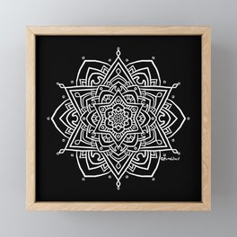 Floral Mandala B - White Framed Mini Art Print