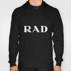 Rad Black Typography Hoody