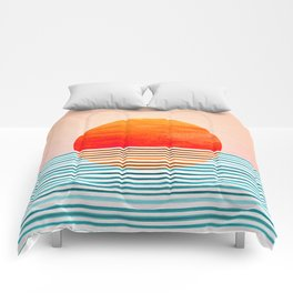 Minimalist Sunset III Comforters