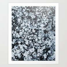 untitled (4456 bklack and white) Art Print