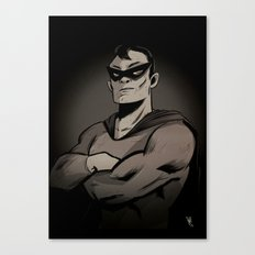 Superhero by night Canvas Print