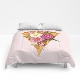 FLORAL PIZZA Comforters