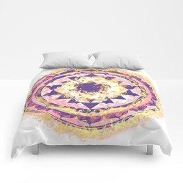 Golden Fire Sri Yantra Comforters