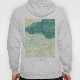 Edinburgh Map Blue Vintage Hoody