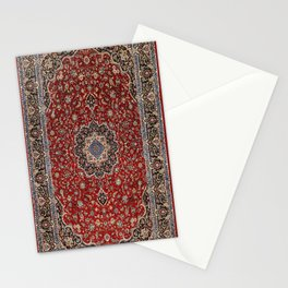 N63 - Red Heritage Oriental Traditional Moroccan Style Artwork Stationery Cards
