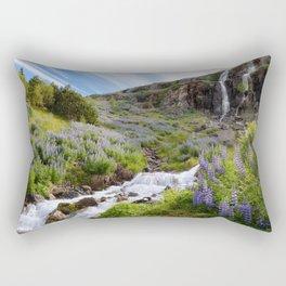 Lupine Landscape Rectangular Pillow