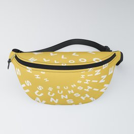 Hello Sunshine #minimal #typography #summervibes Fanny Pack