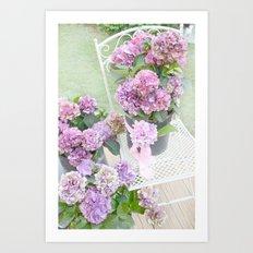 Purple Lavender Hydrangeas Romantic Floral Prints and Home Decor Art Print