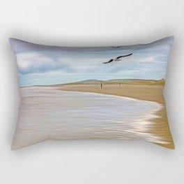 Run In the tide Rectangular Pillow