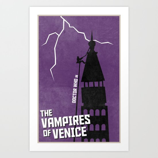 The Vampires of Venice (6 in a series of 13) Art Print