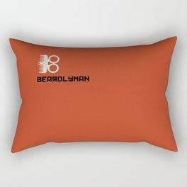 Beardlyman Logo and Name on Orange Rectangular Pillow