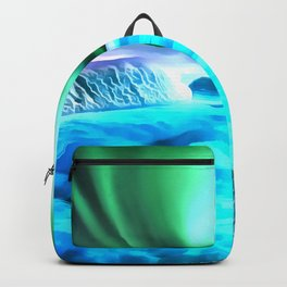aurora borealis acrylic reacstd Backpack