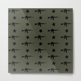 M4 Assault Rifle Pattern Metal Print