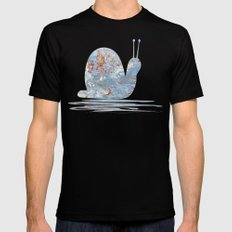 Memories of the Sea -- abstract marine paint age grunge boat nautical  Mens Fitted Tee MEDIUM Black