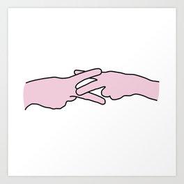 Scissoring Hands Art Print