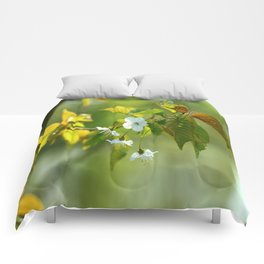 Delicate Spring Blossoms Comforters