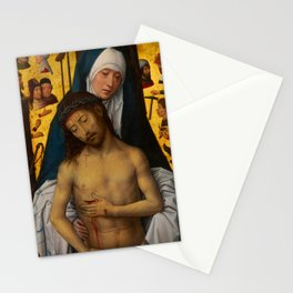 """Hans Memling """"The Man of Sorrows in the arms of the Virgin"""" Stationery Cards"""
