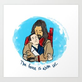 With us. Art Print