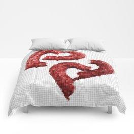 Broken Heart Mosaic Comforters
