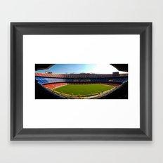 FC Barcelona - Nou Camp Framed Art Print